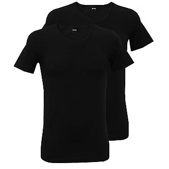 Boss 2-Pack Slim-Fit Crew-Neck T-Shirts, Black