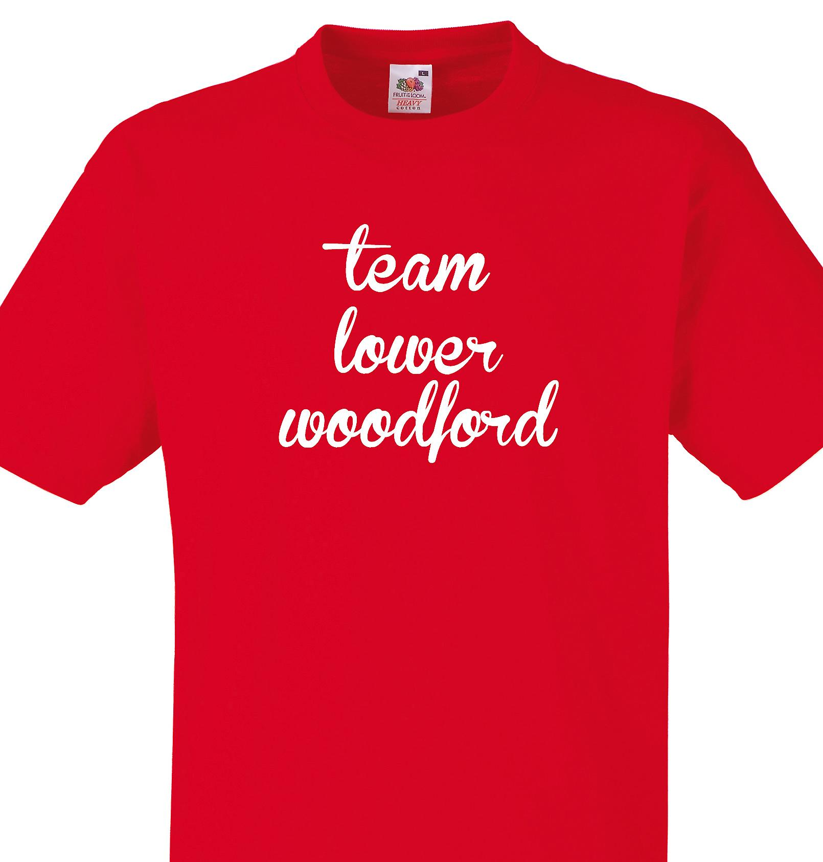 Team Lower woodford Red T shirt