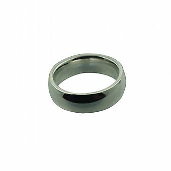 6 millimetri argento pianura corte Wedding Ring dimensioni P