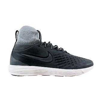 Nike Лунный Magista II 2 Flyknit темно серый/темно серый волк Серый мужской 852614-002