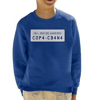 Copacabana License Plate Kid's Sweatshirt