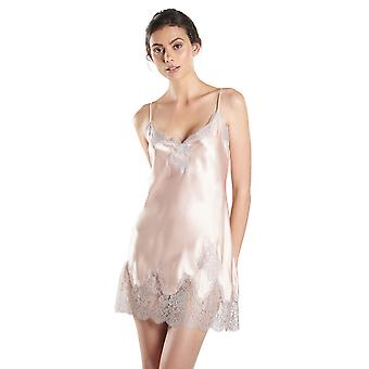 سوى العاج العمور قميص الحرير الزهور كشف ملابس النوم Babydoll aubade MS42 المرأة