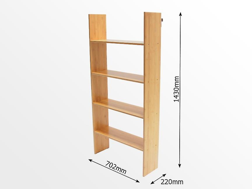 Woodquail Bamboo Bunk Bed Clip on Shelf 4 Tiers, Kids Bedroom Furniture