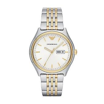 Armani Watches Ar11034 Gold & Silver Stainless Steel Men's Watch