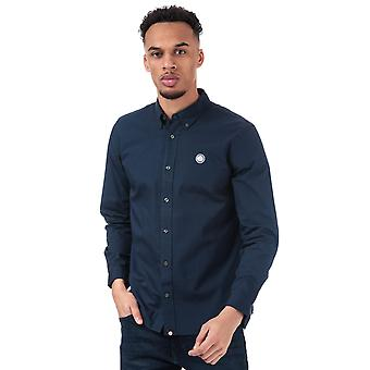 Mens Pretty Green Classic Fit Oxford Shirt In Navy