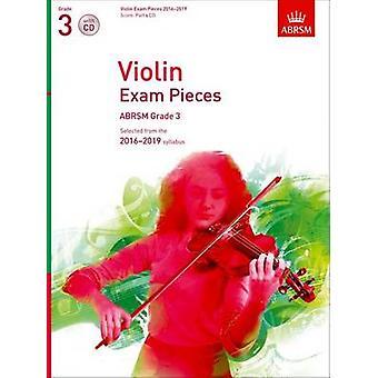 Violin Exam Pieces 2016-2019 - ABRSM Grade 3 - Score - Part & CD - Sel