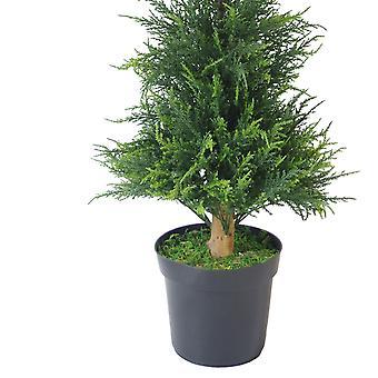 PAIR de 120cm (4ft) Cono de cedro artificial Ciprés coníferas árboles topiarios