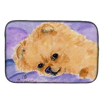 Carolines Treasures  SS8834DDM Pomeranian Dish Drying Mat