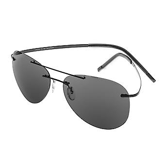 Breed Luna Polarized Sunglasses - Black/Black