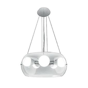 5 lumière plafonnier pendentif clair