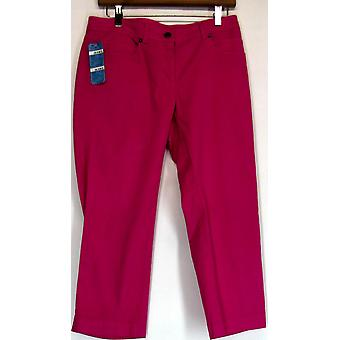 209 WST Mid-Rise 5-Pocket Cropped Jeans Fuchsia Pink Womens