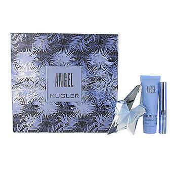 Thierry Mugler Angel 25ml Eau de Parfum, 50ml Body Lotion and Perfume Stick Gift Set for Women