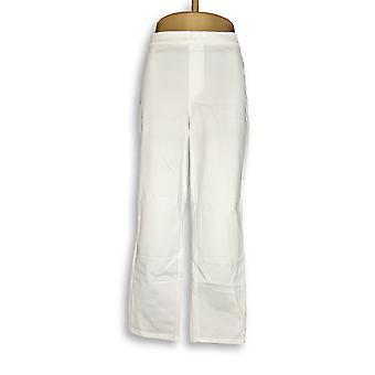 Isaac Mizrahi Live! Women's Pants 24/7 Stretch White A302696