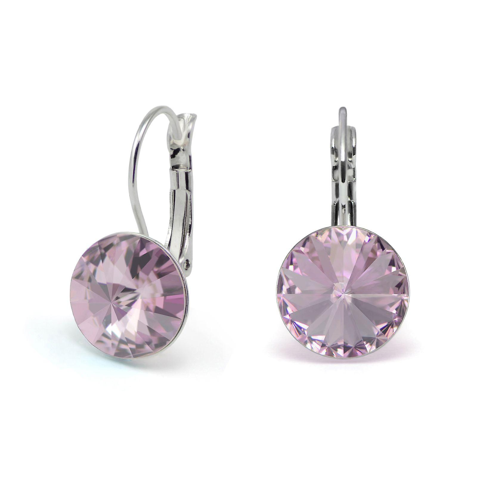 Light Amethyst crystal earrings EMB 1.3