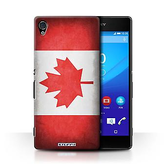 STUFF4 Case/Cover for Sony Xperia Z4v/E6508/Canada/Canadian/Flags