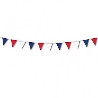 ROOD blauw wit BUNTING 40m 80 vlaggen VZG Pennant