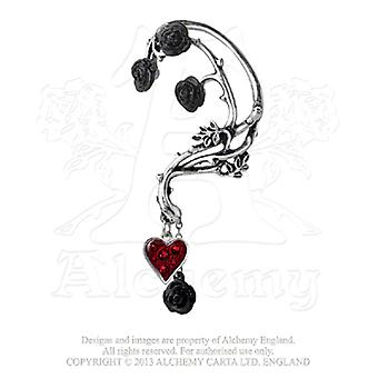 Alchemy Gothic Bed of Blood Roses Ear Wrap Single Earring
