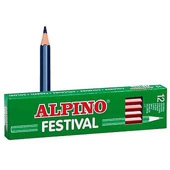 Alpino Box 12 Dark Blue Festival (Toys , School Zone , Drawing And Color)