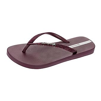 Ipanema Sparkle Womens Flip Flops / Sandals - Burgundy