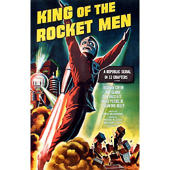 King Of The Rocket Men Tristram Coffin On A 1956 Re-Issue 1-Sheet Poster 1949 Movie Poster Masterprint