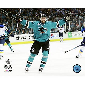 Joonas Donskoi 2016 Stanley Cup Playoffs Action Photo Print