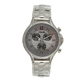 Misaki ladies watch Chrono QCRWGAMMA stainless steel white Zyrkonia