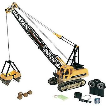 Carson Modellsport Cable-operated excavator 1:12 RC Beginners Scale Models Heavy-duty vehicle incl. batteries and charge