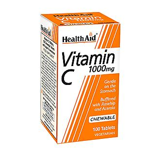 Health Aid Vitamin C 1000mg - Chewable (Orange Flavour) ,  100 Tablets