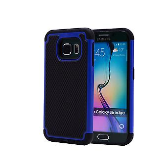 Shock proof case + stylus for Samsung Galaxy S6 Edge (SM-G925) - Deep Blue