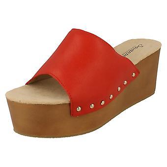 Ladies Savannah Block Wedge Sandal