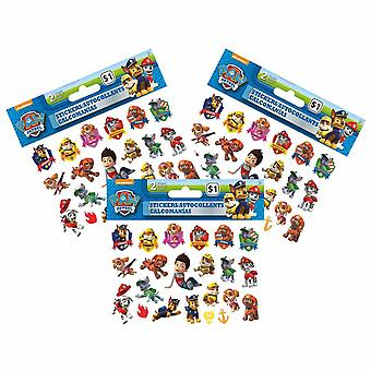 Paw Patrol Mini Stickers [3 Packages of 2 Sheets Each]