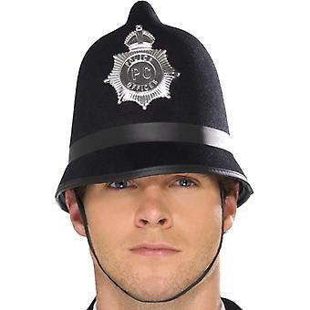 Police helmet with badge felt
