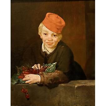 Edouard Manet - Boy with Cherries Poster Print Giclee