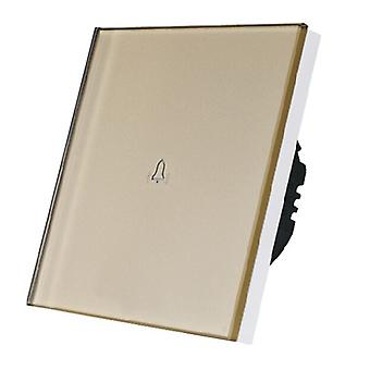 I LumoS Luxury Gold Glass Panel Touch Controlled Doorbell