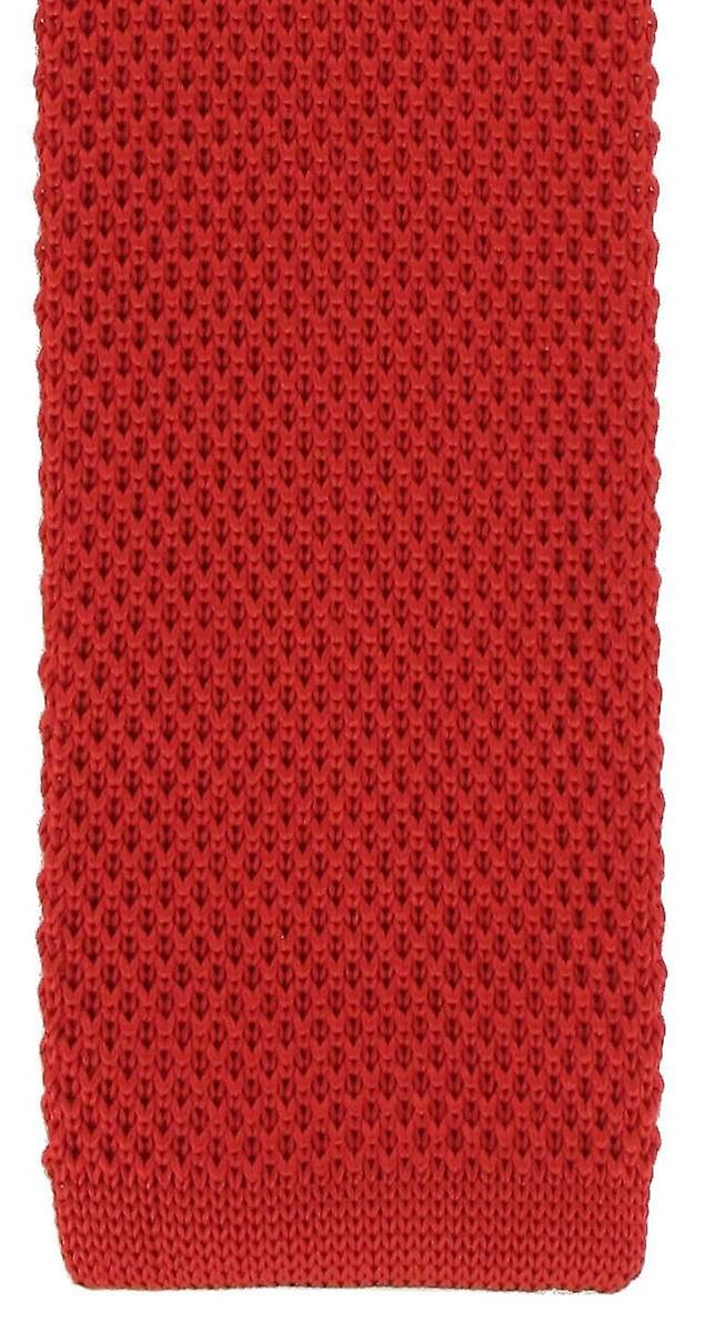 Michelsons of London Silk Knitted Skinny Tie - Red