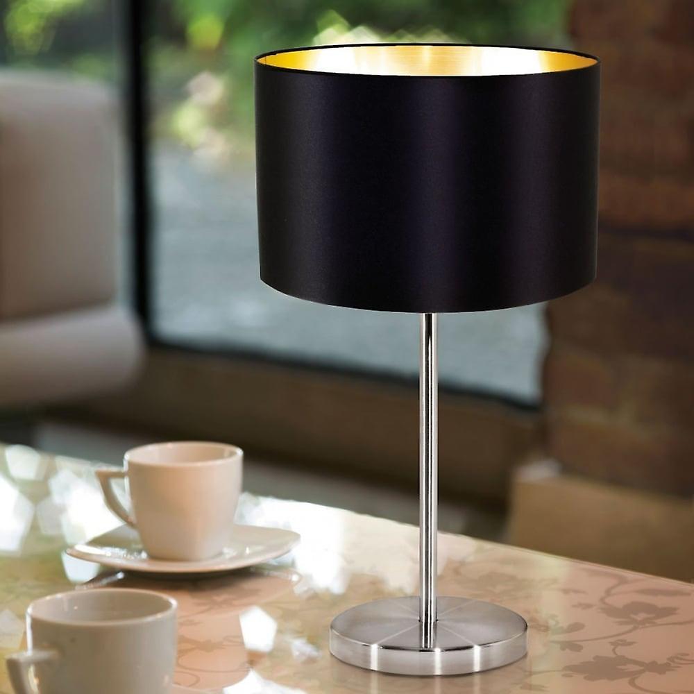MASERLO EGLO lampe de Table noire & or d'acier
