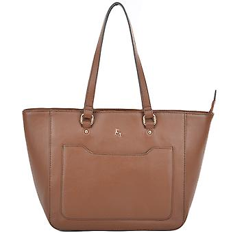 Ashwood Medium læder City Shopper taske - 61619 -tan