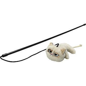 Rosewood Grumpy Cat Toy Wand (Assorted Colours)