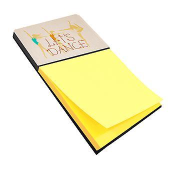 Carolines Treasures  BB5376SN Let's Dance Linen Light Sticky Note Holder