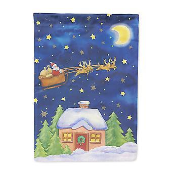 Weihnachten Weihnachtsmann über den Himmel Flagge Haus Leinwandgröße