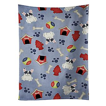 Dog House Collection French Bulldog Piebald Kitchen Towel