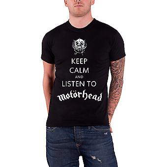 Motorhead Keep Calm and Listen To Motorhead Official Mens New Black T Shirt