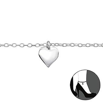 Heart - 925 Sterling Silver Anklets - W27634x