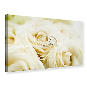 Canvas Print Rings On Roses