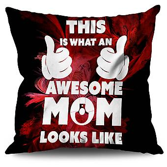 Awesome Mom Cool Funny Linen Cushion Awesome Mom Cool Funny | Wellcoda