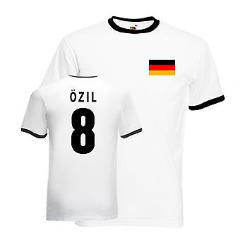 Mesut Ozil Germany Ringer Tee (white-black)