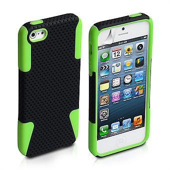 Yousave Zubehör-Iphone 5 und 5 s Mesh Combo Case - grün