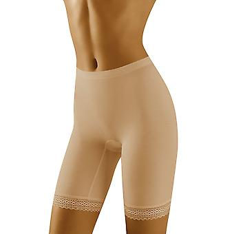 Wolbar Frauen Rona Beige Lichtsteuerung Schlankheits-Gestaltung hohe Taille langes Bein kurz