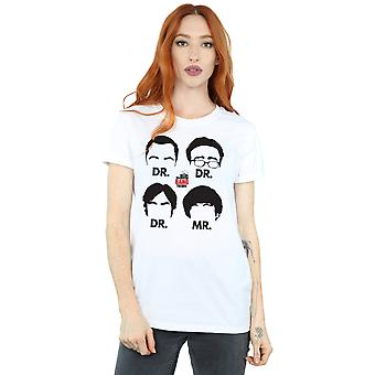 The Big Bang Theory Women's Doctors And Mr Boyfriend Fit T-Shirt