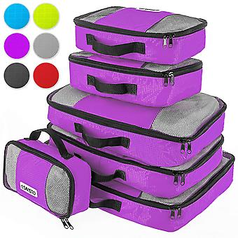Savisto Packing Cubes Suitcase Organiser 6-Piece Set - Purple